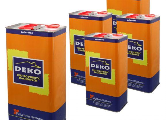 Klej dekarski DEKO 5 kg w cenie 110,7 zł brutto za sztukę przy zakupie min. 50 szt.